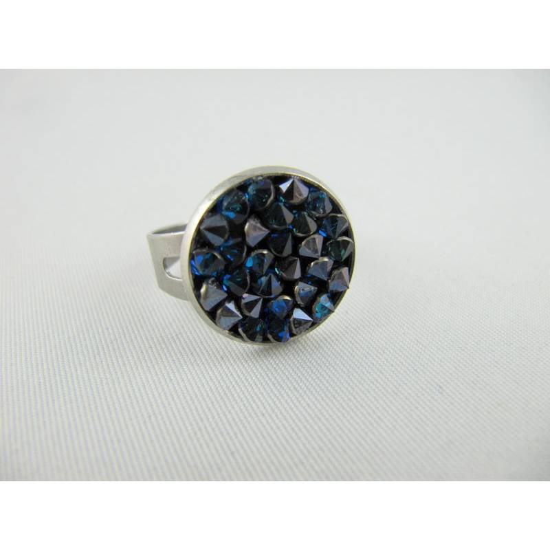 Ring Crystal Rocks Crystal Bermuda Blue Bild 1