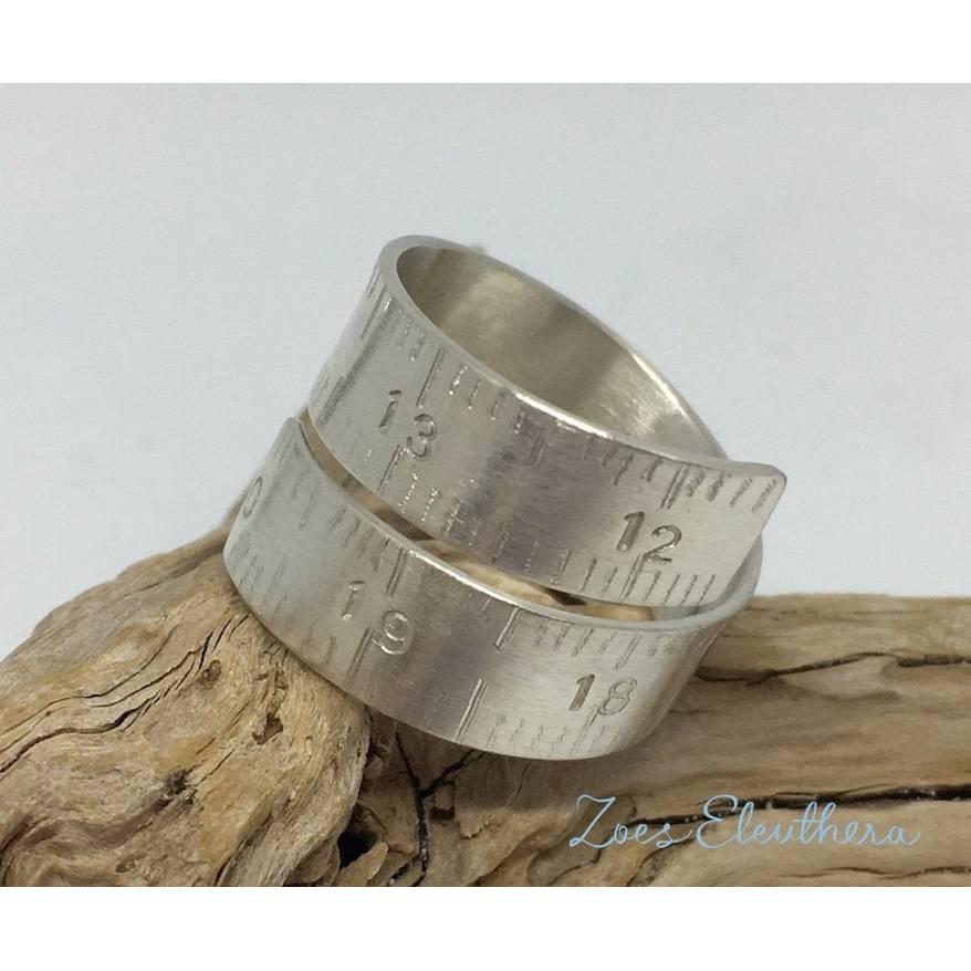 Ring Silber Massband Nähband Bild 1