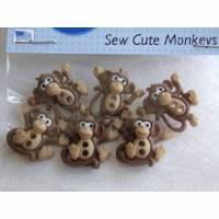 Dress it up Knöpfe   Affen   (1 Pck.)     Sew Cute Monkeys
