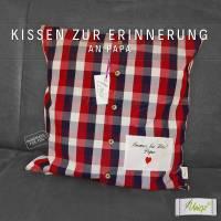 ✂ Erinnerungs- Kissen aus Hemd oder Bluse, Erinnerungskissen Bild 2