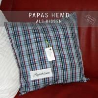 ✂ Erinnerungs- Kissen aus Hemd oder Bluse, Erinnerungskissen Bild 4