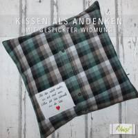 ✂ Erinnerungs- Kissen aus Hemd oder Bluse, Erinnerungskissen Bild 9