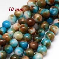10 Jade Perlen, Jade, bunt, 10mm, g597 Bild 1