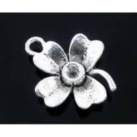 20  Anhänger, Blume, Blumen, silber, Vintage-Stil, charm, charms,  05573 Bild 1