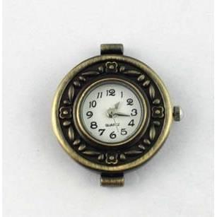 1 Uhr Rohling,Quarzuhr, Vintage-Stil, rund, bronze, verziert, arabische Zahlen, Armbanduhr, Kettenuhr, ubr Bild 1