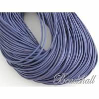 2 Meter Lederband rund 2 mm Lila Violett Bild 1