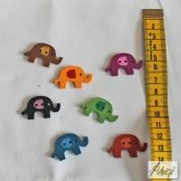 6 Holz-Knöpfe - Kinder - Elefanten Bild 1