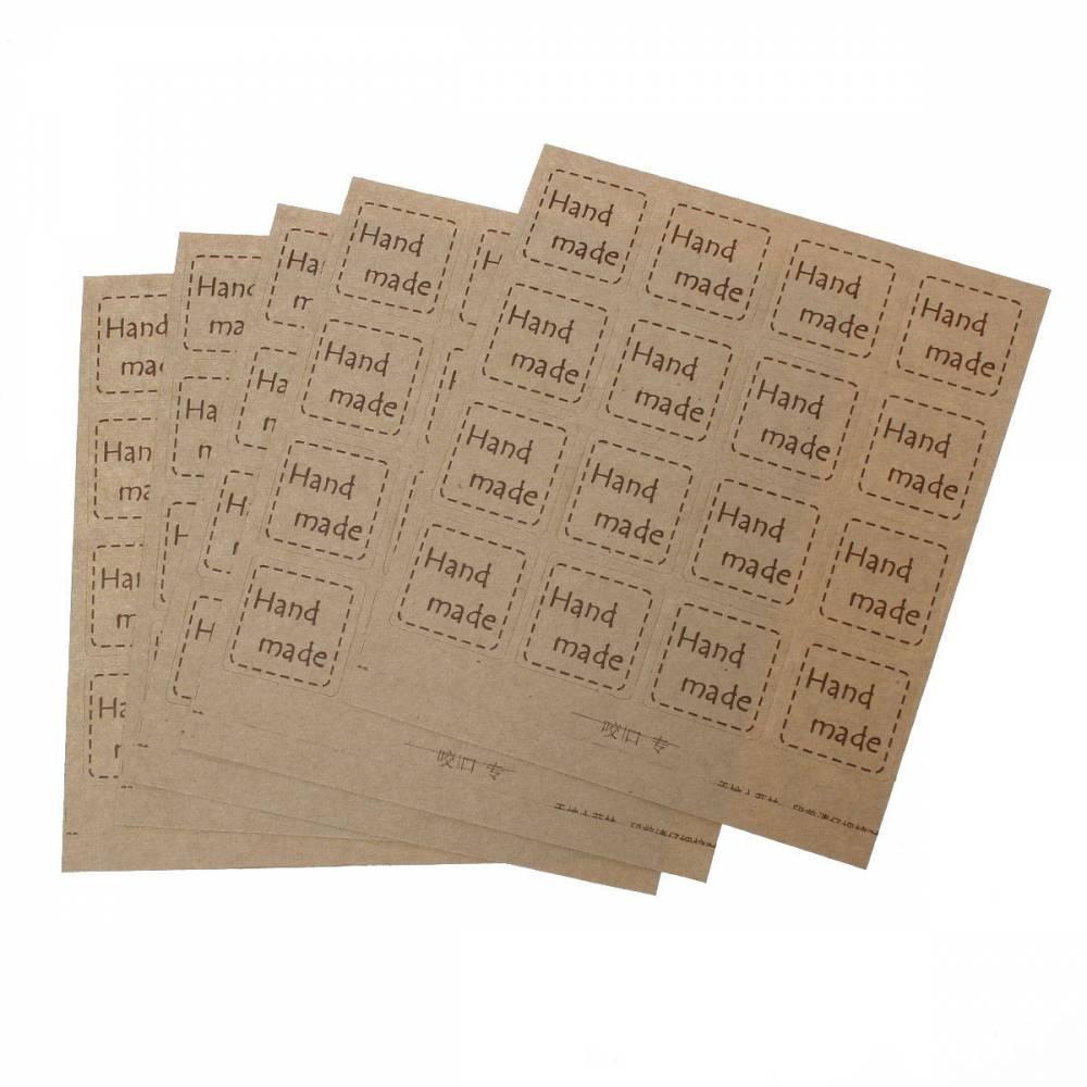 160 Etiketten, Klebeetiketten, handmade, hand  made, hangemacht, Aufkleber*71524 Bild 1