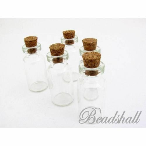 10 Glasflaschen transparent Flaschen mit Korken 3,5 ml
