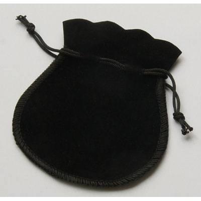 20 Schmuckbeutel, 7x7,50cm, Samtsäckchen, Veloursamt, schwarz, samt schwarz Bild 1