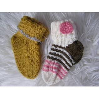 Babysocken - Gr. 18 - handgestrickt - 2 Paar Bild 1