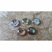 10 Engel - Glas-Cabochons -12mm- Bild 1
