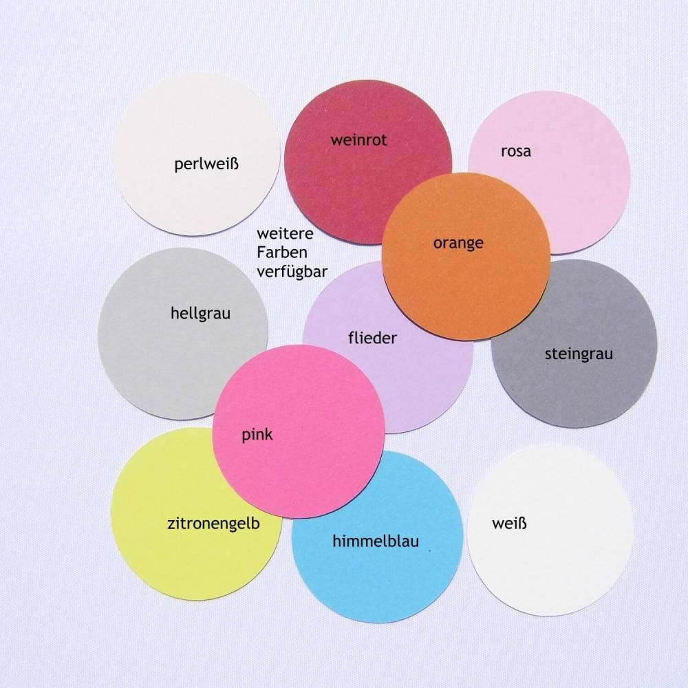 Kreisrunde Geschenkanhänger Etiketten blanko Bild 1