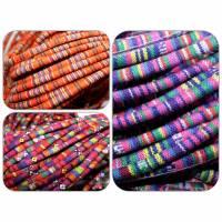 Ethno Band Baumwolle, 1M, Ø 6 mm, Farbwahl Bild 1