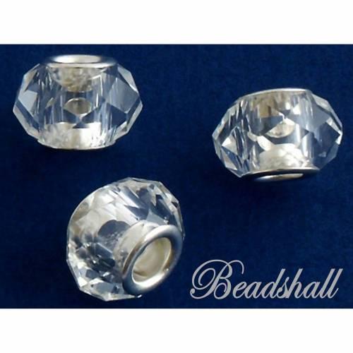 5 Modulperlen Glasschliffperlen Perlen Farbe Kristall klar Glasperlen facettiert