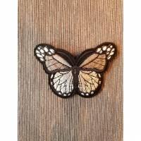 Applikation/Bügelbild Schmetterling grau Bild 1