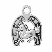 20 Anhänger, Pferd, Pferde, Hufeisen, Vintage-Stil, silber, Glück, Glücksbringer, charm, charms, Schmuckanhänger, 63688 Bild 1