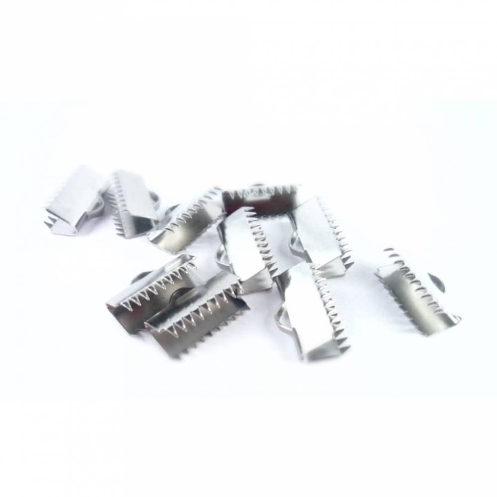 10 Bandkappen,Edelstahl,  Verschlüsse, Verschluss,  Schmuckverschluss, Endkappen, Armband, Kette,10x20mm, 250-11 Bild 1