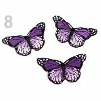 Applikation/Bügelbild Schmetterling Violett Bild 1