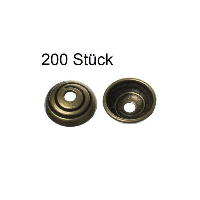 200 Perlkappen, Perlen, Kappen für Perlen, bronzefarben, 10mm Bild 1