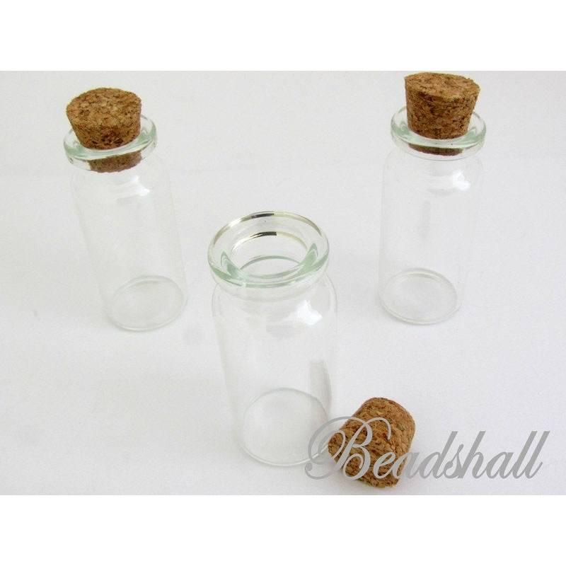 10 Glasflaschen mit Korken 12 ml Bild 1