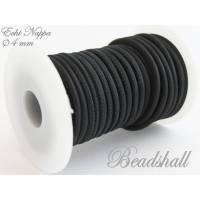 50 cm Lederband rund 4 mm Nappaleder Schwarz Lederschnur Bild 1