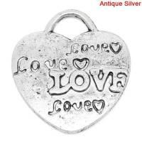 10 Anhänger, Herz , Herzen, Love, Liebe, silber. charm, charms, 03819 Bild 1