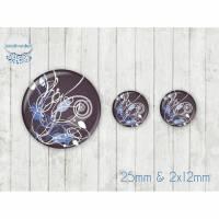Motiv Cabochon-Set Nr 49059 Swirl Schnörkel floral Bild 1