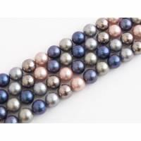 1 Strang Perlen Muschelkernperlen 8 mm Farbmix Süsswasserperlen Bild 1