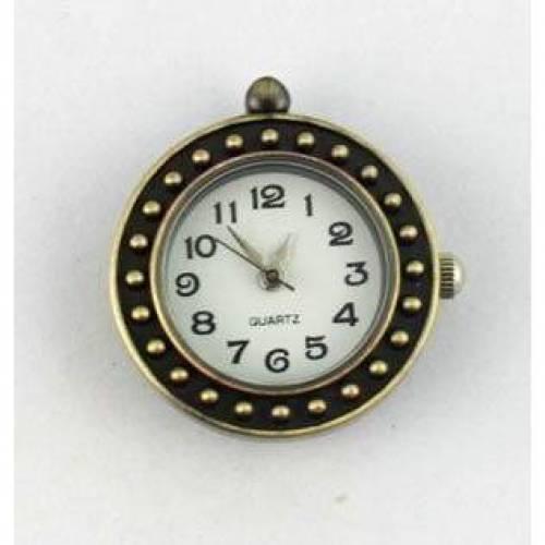 1 Uhr Rohling,Quarzuhr, Vintage-Stil, rund, bronze, verziert, arabische Zahlen, Armbanduhr, Kettenuhr, ubr