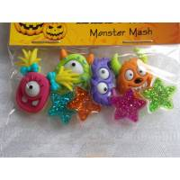 Dress it up Knöpfe   Monster - Sterne     (1 Pck.)    Monster Mash      Kinderknöpfe Bild 1