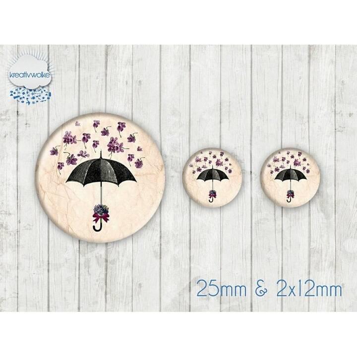 Motiv Cabochon-Set Nr 49103 Regenschirm Blüten Bild 1