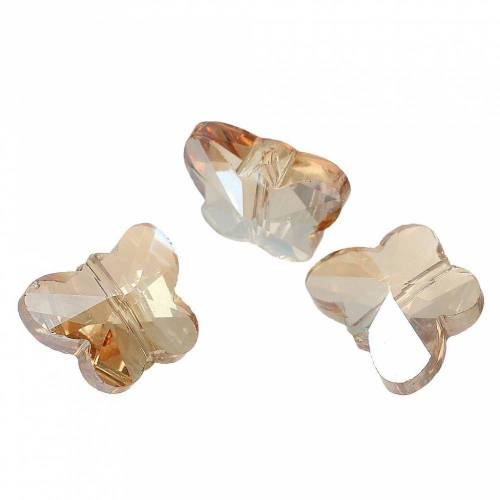 20 Perlen, Schmetterling, Schmetterlinge,Glasperlen, Schmuckperlen, Glas, geschliffen, 69774