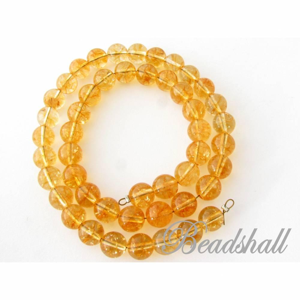 Citrin Edelsteine 8 mm Perlen Kugelstrang Farbe Honiggelb Bild 1