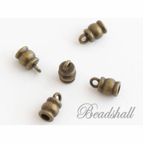20 Endkappen Barrel bronzefarben