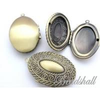 1 Medaillon oval Vintage-Stil bronzefarben