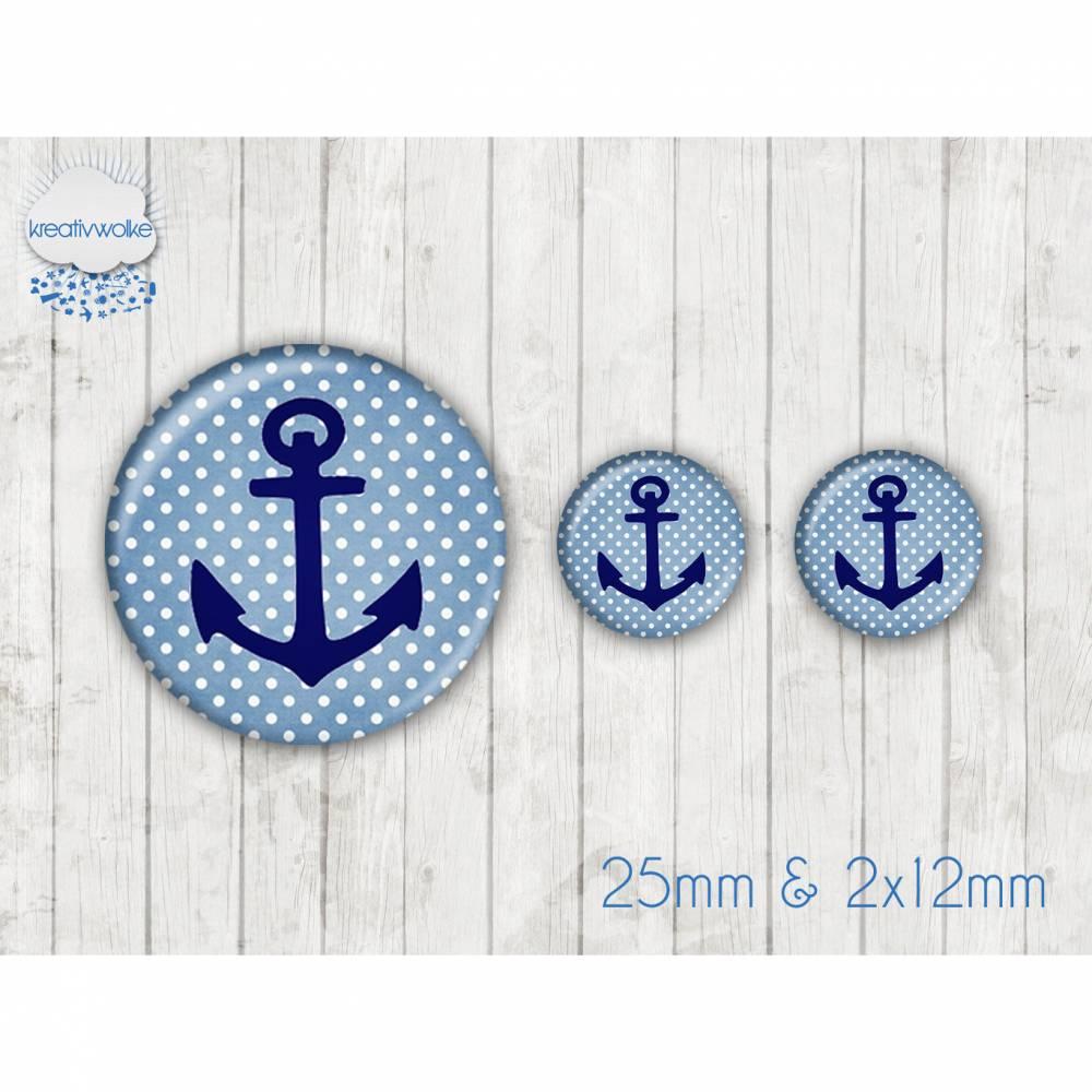 Motiv Cabochon-Set Nr 49355 Anker maritim Bild 1