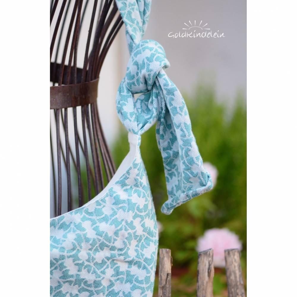 ♡ bequeme Sling-Tasche aus Tragetuch mint, Einzelstück! ♡ Bild 1
