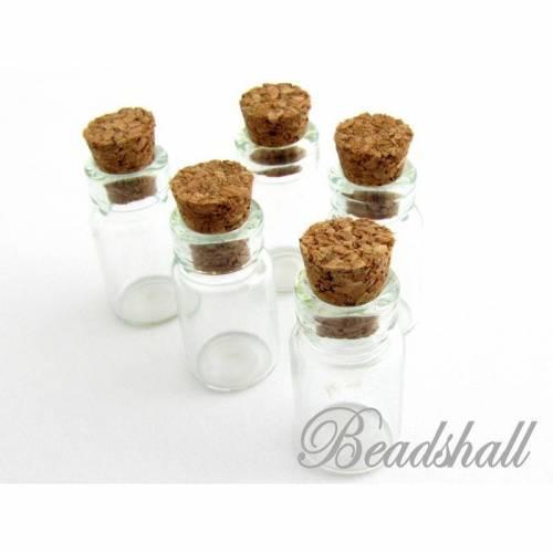 20 Glasflaschen mit Korken kleine Glasflaschen 1 ml