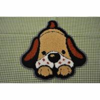 Applikation Bügelbild Flausch Hund 19x20cm Bild 1