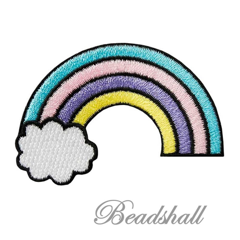 Bügelbild Regenbogen Applikation Dekoaufkleber Bild 1
