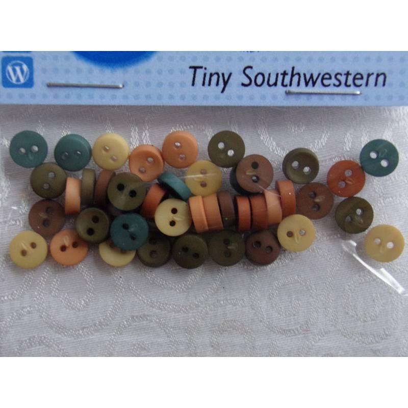 Dress it up Knöpfe     klein und rund      (1 Pck.)   Tiny Southwestern    Kinderknöpfe Bild 1