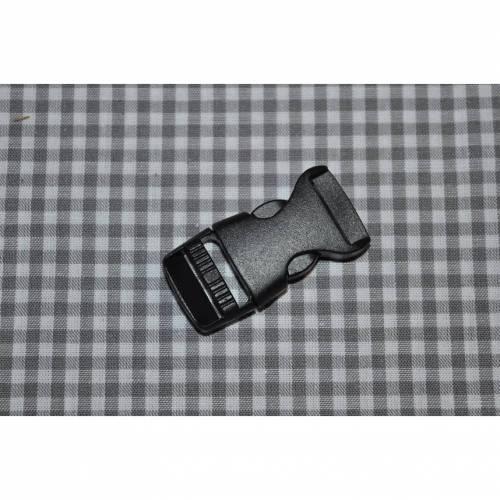 Steckschnalle 15 mm schwarz