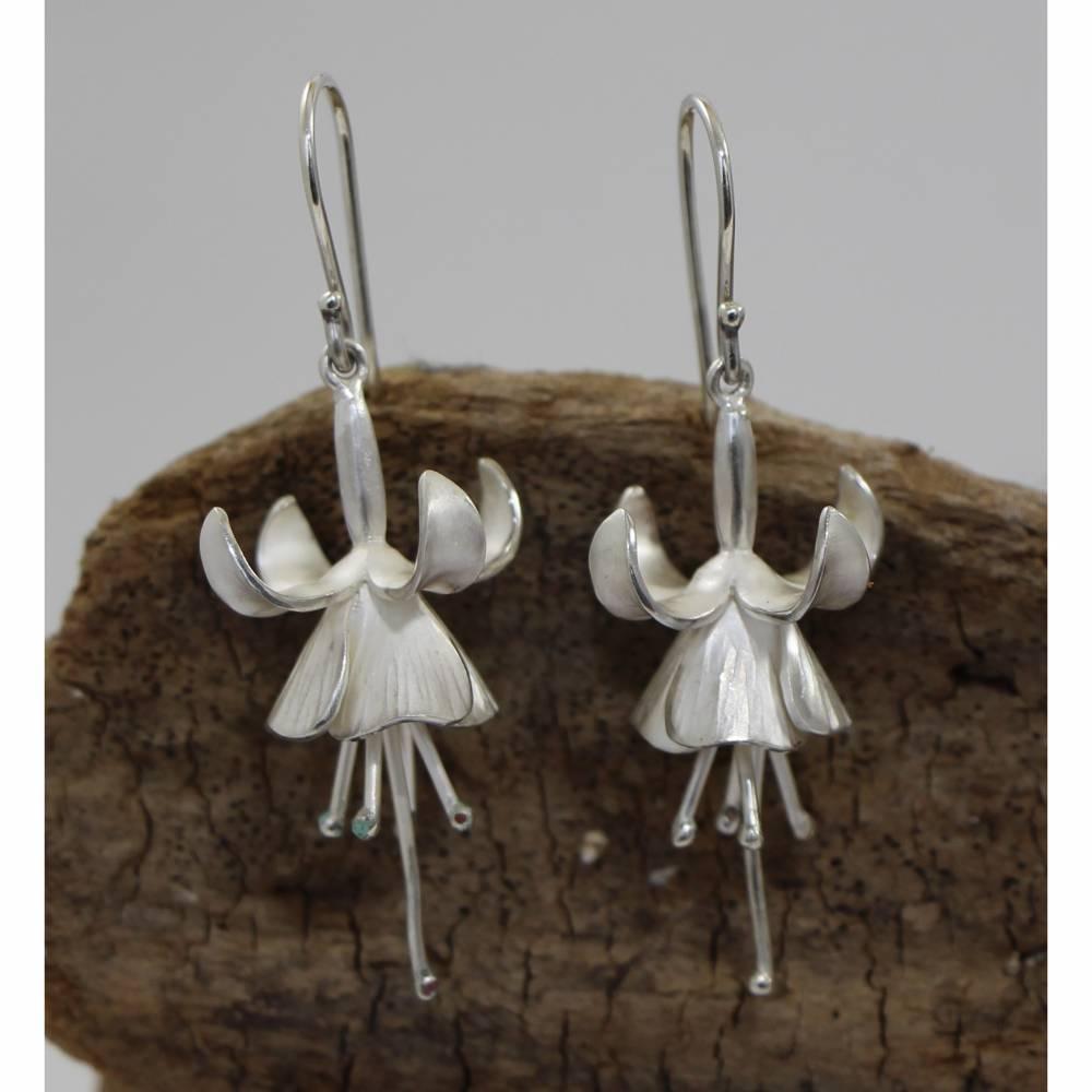 Ohrhänger Fuchsia aus 925er Silber, Einzelstücke!! Bild 1