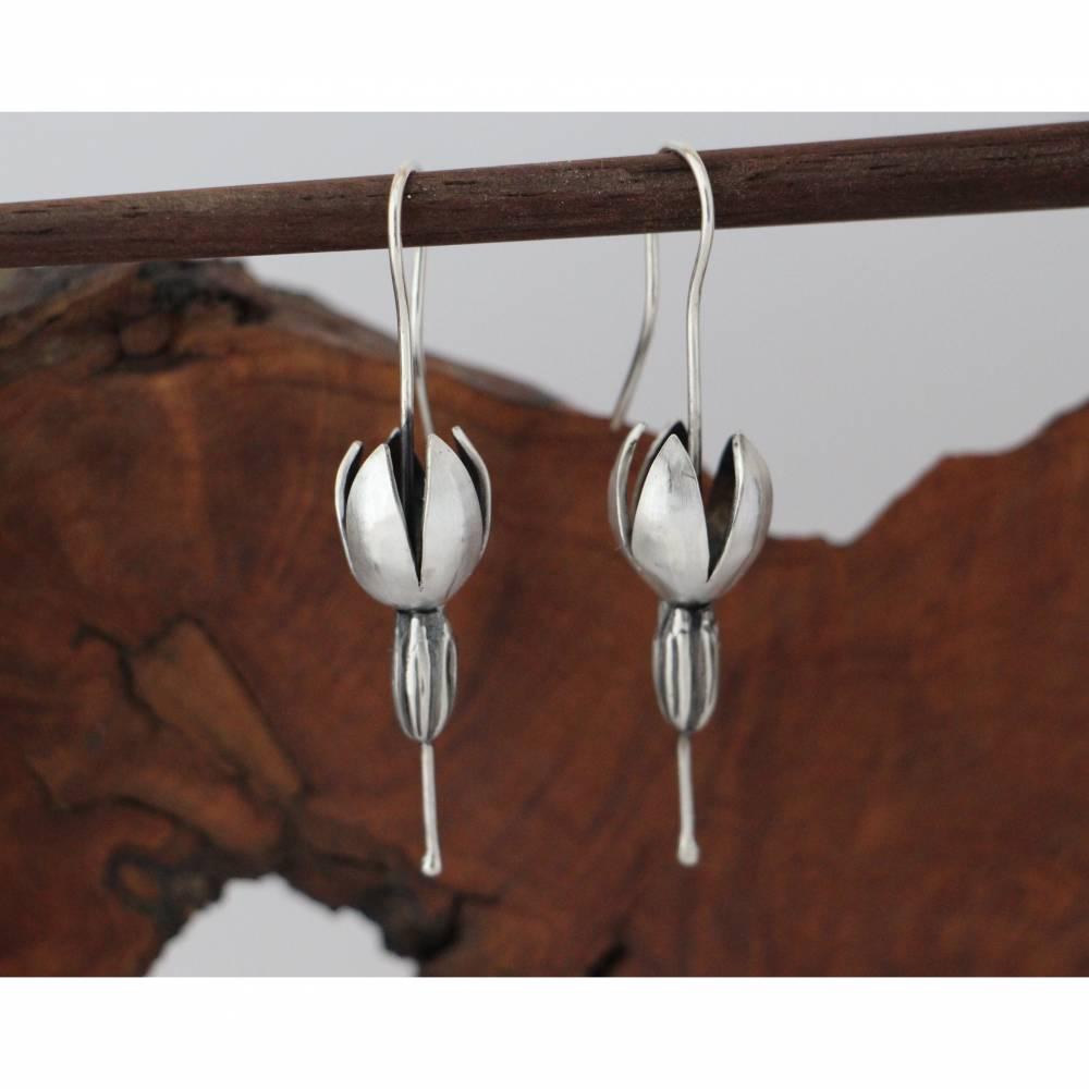 Solanum Ohrhänger aus 925er Silber Bild 1