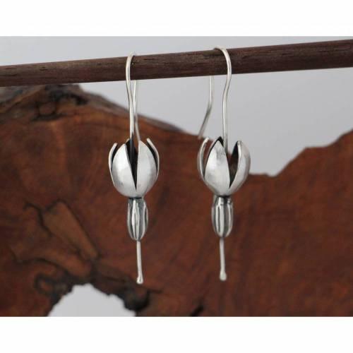 Solanum Ohrhänger aus 925er Silber
