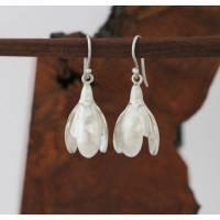 Ohrhänger Schneeglöckchen aus 925er Silber, Einzelstücke!! Bild 1