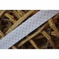 Schrägband Punkte gefalzt 18 mm weiß - flieder Bild 1