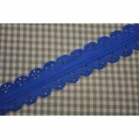 Spitzen Reißverschluß blau 16mm Bild 1