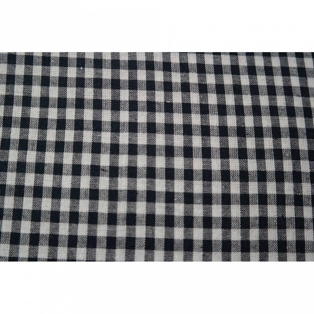 8,00 Euro/m Baumwolle , dunkelblau- weiß kariert, vichy, 5 mm Bild 1
